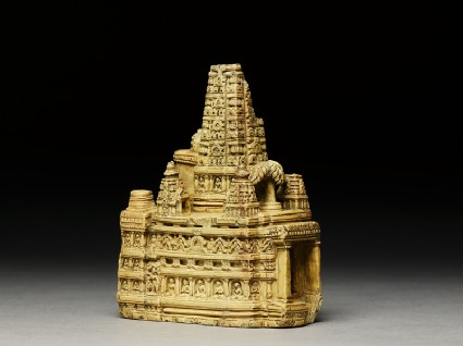 Stone model of the Mahabodhi templeside