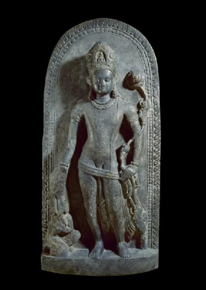 Stele with Avalokiteshvara holding a lotusfront