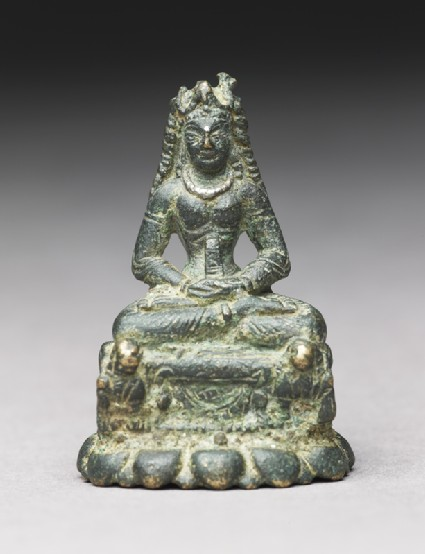 Figure of Tara seated on lion thronefront