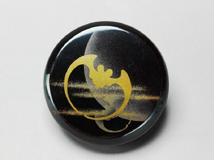 Incense box with stylized bats and a crescent moontop