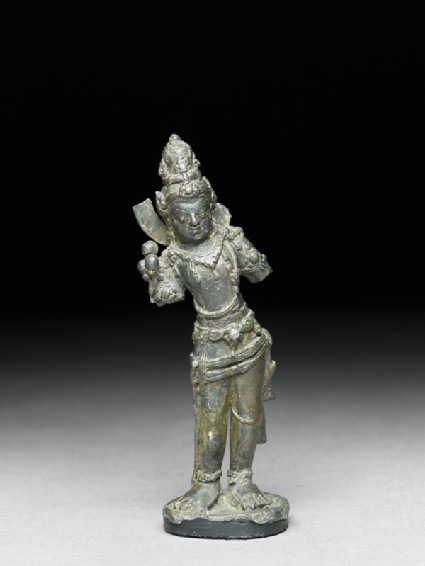 Standing figure of a bodhisattvafront