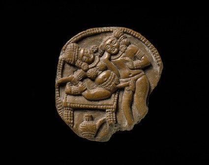 Plaque depicting a couple making love (mithuna)front