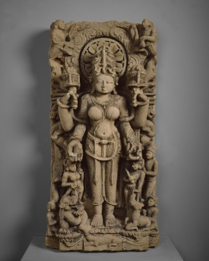 Stele with the goddess Gauri or Siddhafront