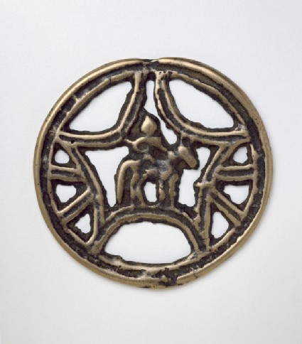 Talismanic plaque, or tokcha, with horse and riderfront