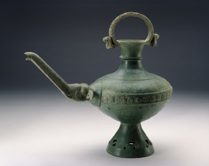 Ewer with spout in the form of an elephant head and trunkside