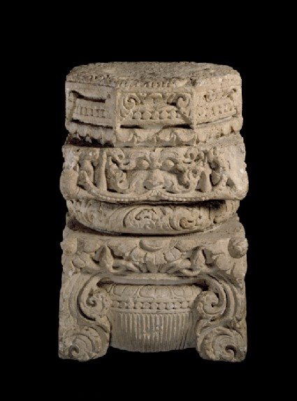 Pillar capital from a templeoblique