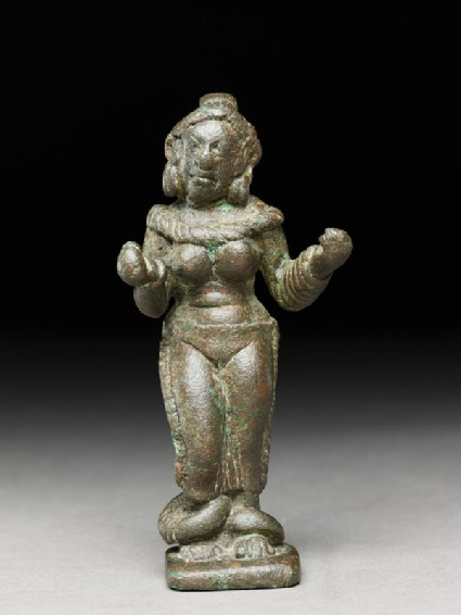 Female figure with heavy ankletsfront