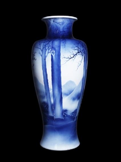 Vase with winter landscapeside