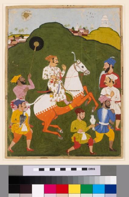 Equestrian portrait of Maharana Raj Singh I of Mewarfront