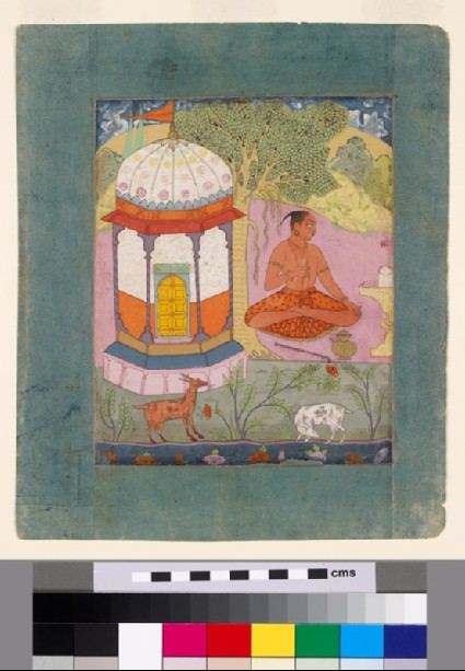 Ascetic in a landscape, illustrating the musical mode Bangali Raginifront