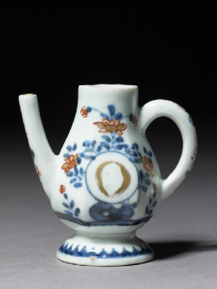 Miniature ewer marked with the letter 'O'side