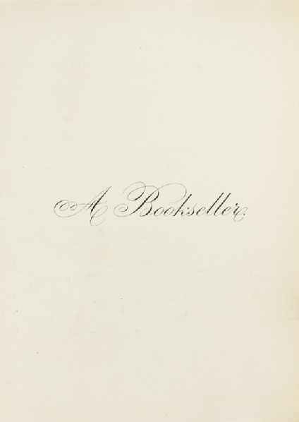 A Booksellerfront