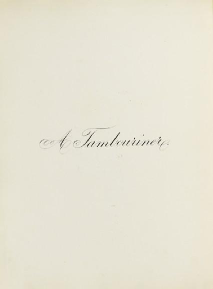 A Tambourinerfront