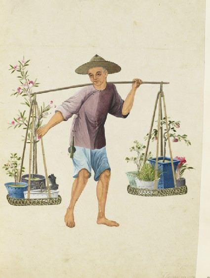 A Porter with Fruit-Trees and Flowersfront