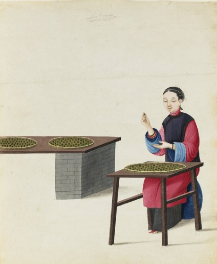 A Woman Preparing Teafront