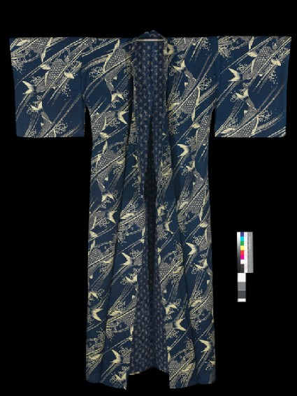Yukata with fishfront