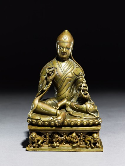 Seated figure of a lamaside