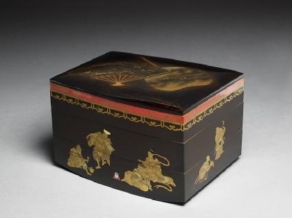 Picnic set box depicting the seven gods of good fortuneoblique