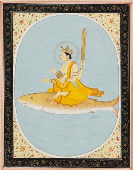 Vishnu as the fish avatar, Matsyafront