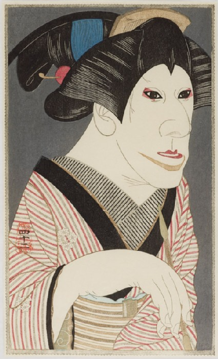 Ichikawa Monnosuke VIII as Omon of the Jūmonjiyafront