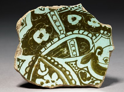 Base fragment of a bowl with harpytop