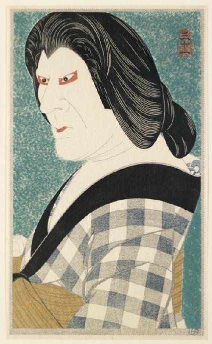 Ichikawa Ennosuke III as the boatwoman Oenfront
