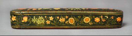 Qalamdan, or pen box, with floral decorationfront