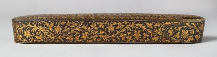 Qalamdan, or pen box, with floral decorationside
