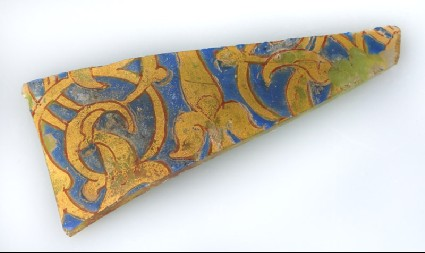 Fragment of a vessel with vegetal decorationfront