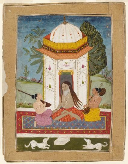 Yogi listening to music, illustrating the musical mode Kedara Raginifront