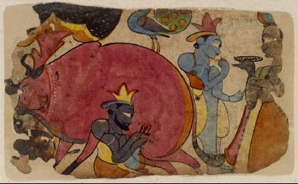 A Krishna talefront