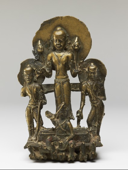Figure of Surya, the Sun god, in his chariotfront