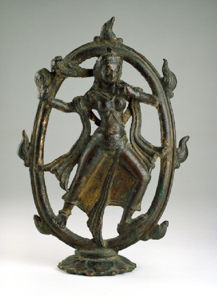 Figure of Devi dancing in a ring of firefront