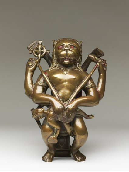 Figure of Narasimha eviscerating Hiranyakashipufront