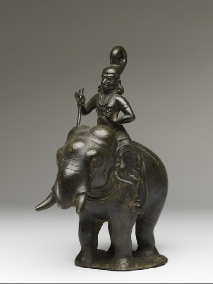 Figure of an elephant and rider from a hanging lampside
