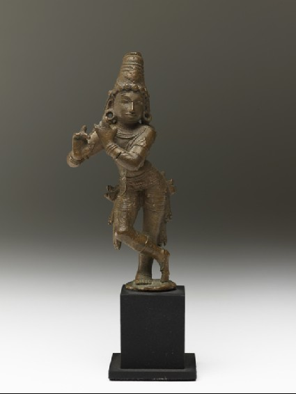 Figure of Krishna Venugopala, the Flute-playing Cowherdfront