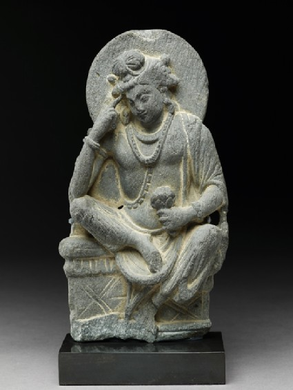Figure of Avalokiteshvara in pensive posefront