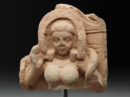 Fragment of a stele with goddessfront