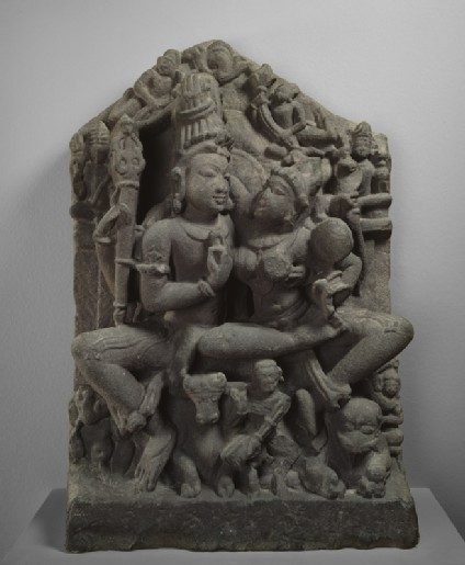 Figure of Shiva and Parvati (Uma-Maheshvara)front