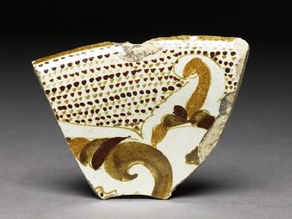 Fragment of polychrome lustrewarefront