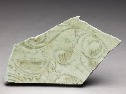 Greenware sherd with incised decorationfront
