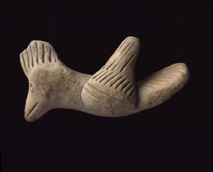 Terracotta figure of a birdside