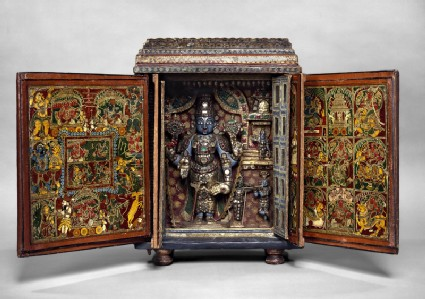 Portable shrine of Vishnu as Venkateshwarafront, open