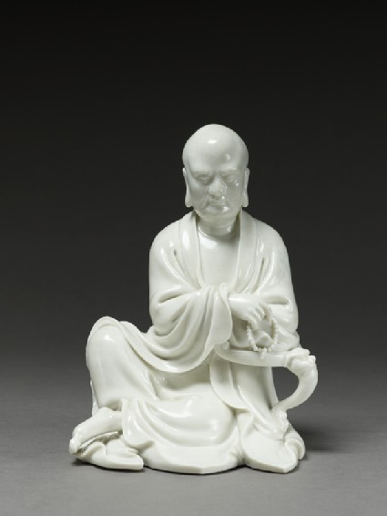 Seated figure of the Buddhist disciple Lohanfront