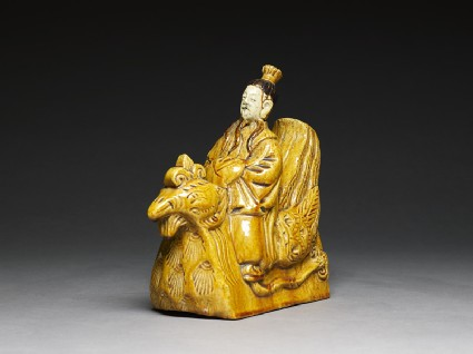 Roof ornament in the form of a figure riding a henside