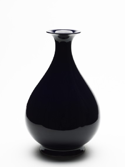 Vase with violet-blue glazeoblique