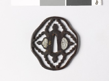 Tsuba with karahana, or Chinese flowersfront