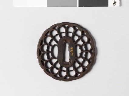 Tsuba in the form of a chrysanthemumfront