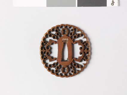 Tsuba with myōga, or ginger shoots and karigane, or flying geesefront