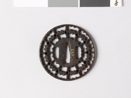 Round tsuba with fundō weights and circlesfront